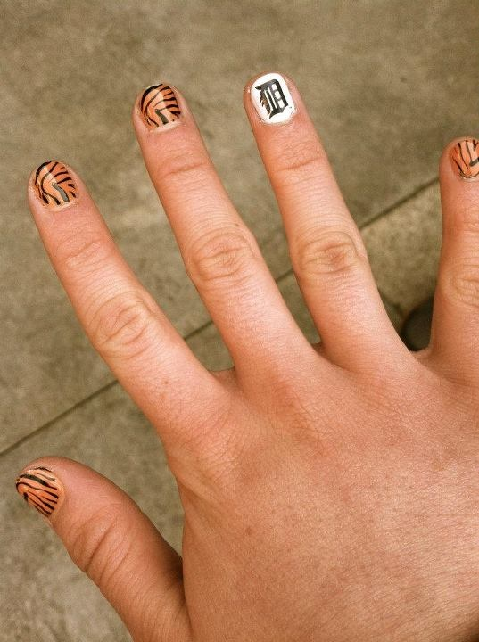 nails!! @Detroit Tigers