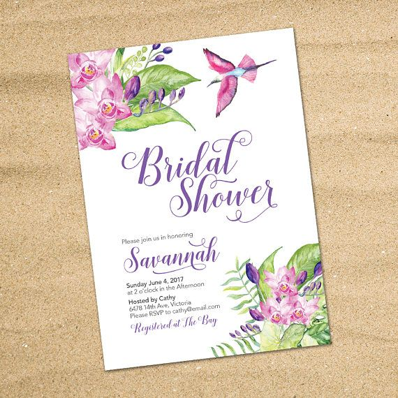 Tropical Bridal Shower Invitation Tropical by LMNDesignStudio
