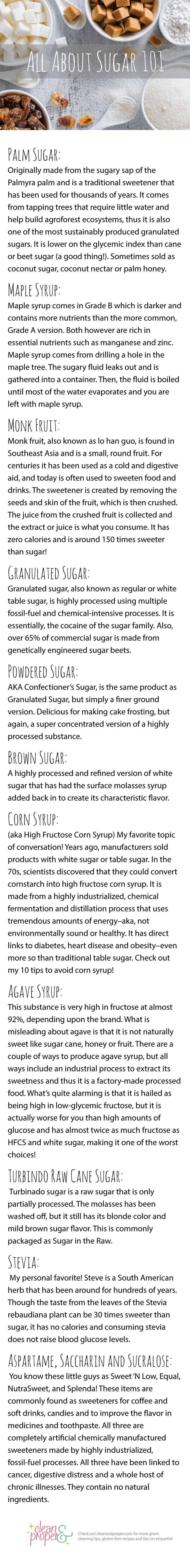 The down and dirty deals of corn syrup, monk fruit, maple syrup, brown sugar, and agave. Find out about Stevia vs. Raw Cane Sugar and which is the best for your health!