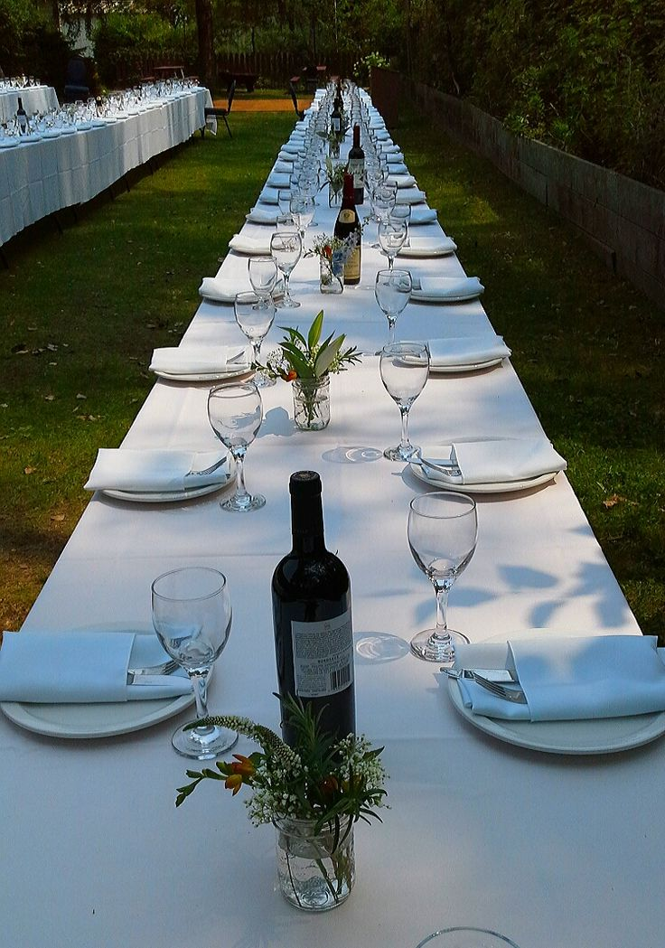reception table for W+V's wedding, August 8, 2014; Artscape Gibraltar Point, Toronto Island; design by Davis Floral Creations