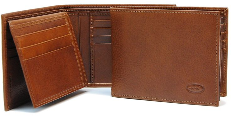 Men's wallet with flap in vacchetta leather | Adpel | Made in Italy