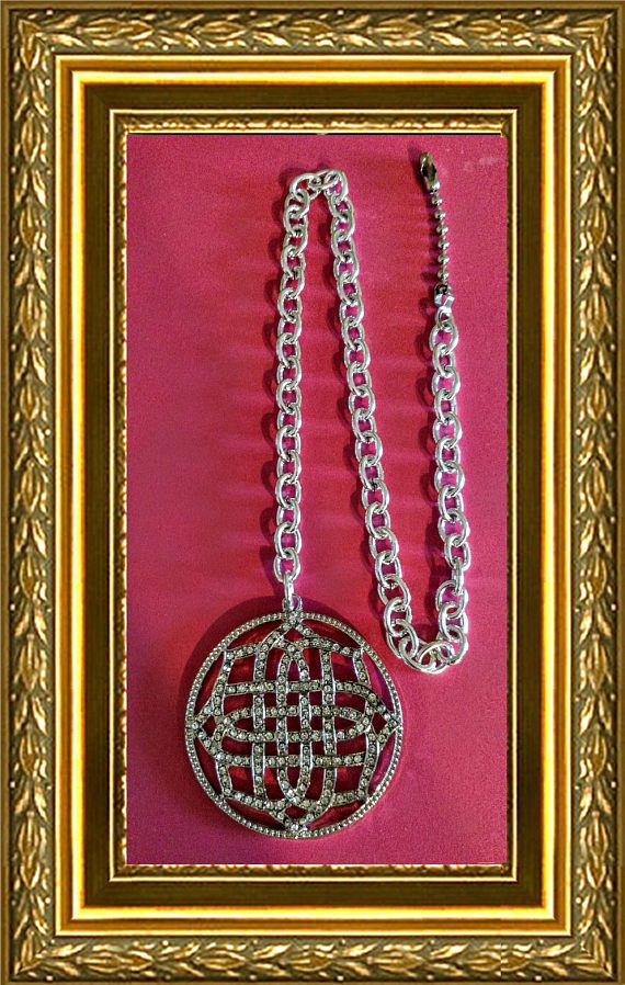 Bling Ceiling Fan Pull Chain / Home Decor  Silver & Faux