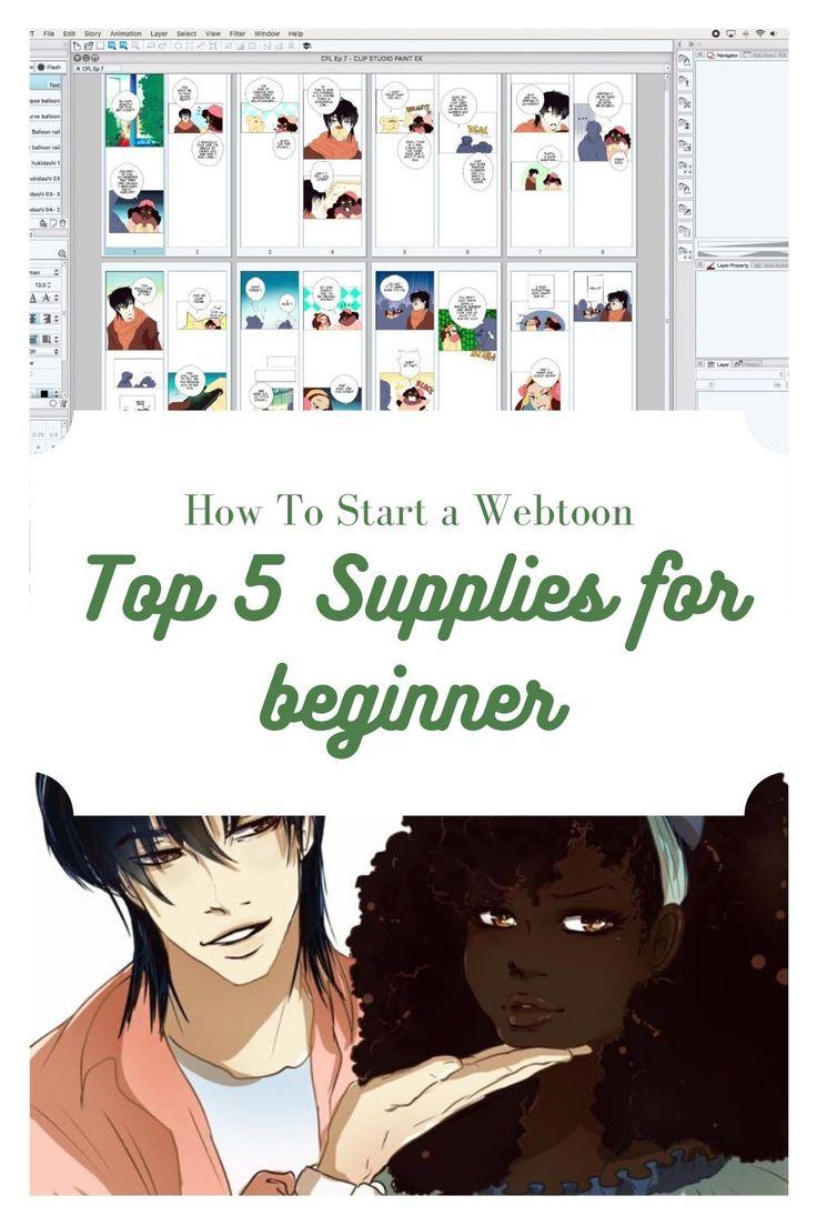 How To Start a Webtoon Top 5 Supplies for beginner in