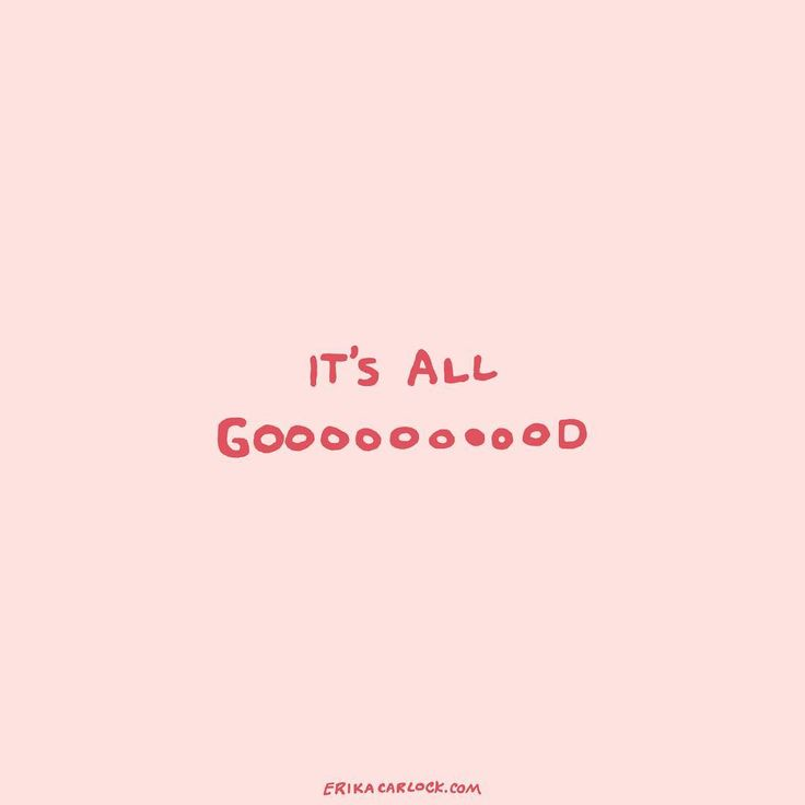 It's all good! Sending good vibes your way ✌ #forrealthoughseries by Erika Carlock