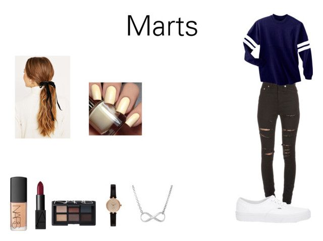 """Marts Style"" by camillaknudsen on Polyvore featuring Yves Saint Laurent, Vans, NARS Cosmetics and Barbour"