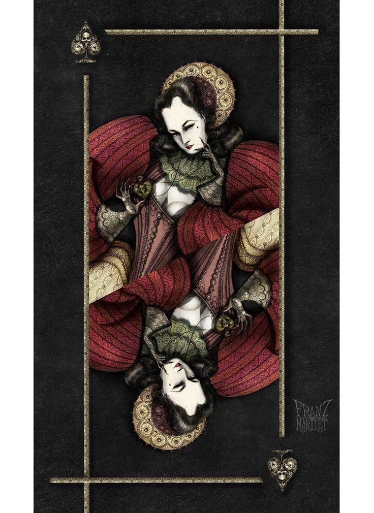 #dita fon teese #queen #art #drawing #cg #traditional art #franz_martlet #poison #queen of spades