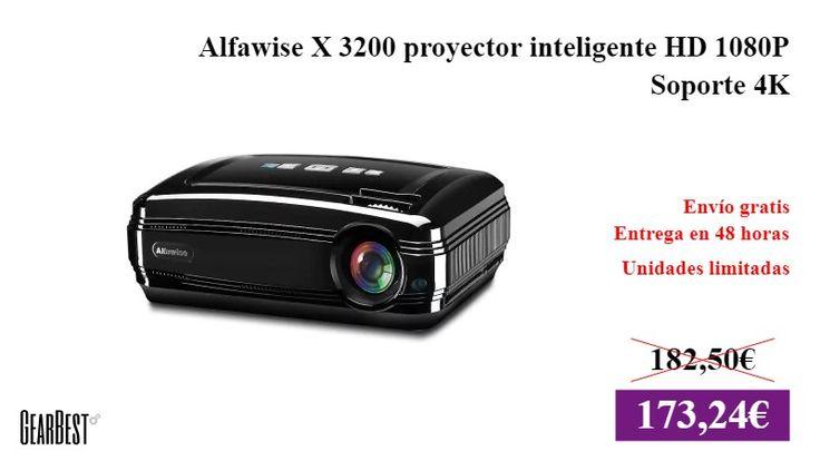 Alfawise X 3200 proyector inteligente HD 1080P Soporte 4K  #Hogar ✏  #Proyector #Gearbest https://vdg.fun/1Y