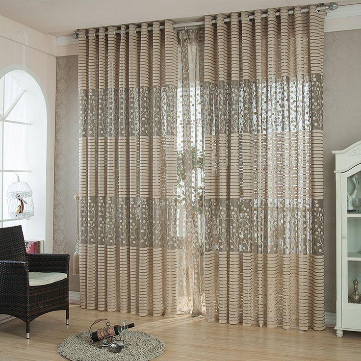 Barato Curtinas de janela de luxo modernas de qualidade moda 3 cores para sala de estar puras tule acabadas blindagem em estoque , Compro Qualidade Cortinas diretamente de fornecedores da China: