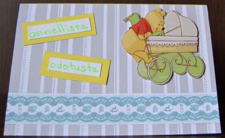 Baby card with Winnie the Pooh