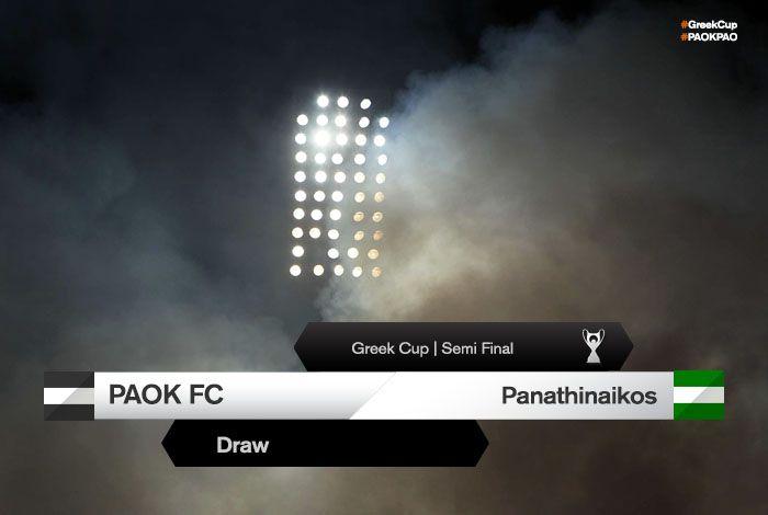 Ο Παναθηναϊκός θα είναι ο αντίπαλος του Δικεφάλου στα ημιτελικά του Κυπέλλου Ελλάδας.