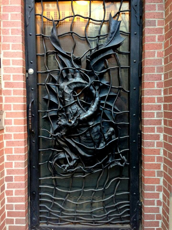 Metal Dragon door & 10 best Dragon doors images on Pinterest | Windows Architecture and ...