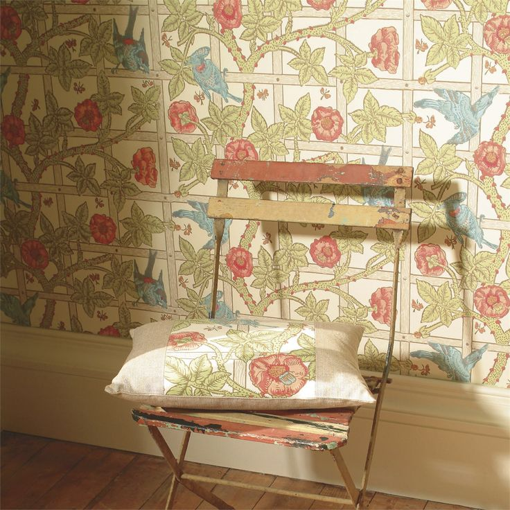 William Morris based this design on a rose trellis in his own garden - now a true favourite and classic wallpaper in the Morris IV Wallpapers Collection at British Wallpapers: http://www.britishwallpapers.co.uk/morris-iv-wallpapers/