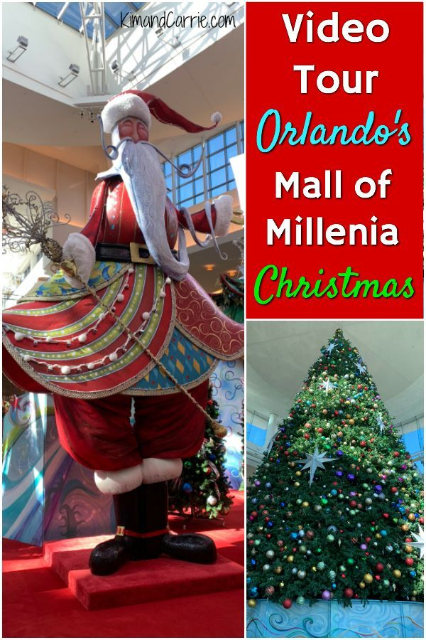 Orlando's Mall of Millenia is beautiful at Christmas time! Santa's