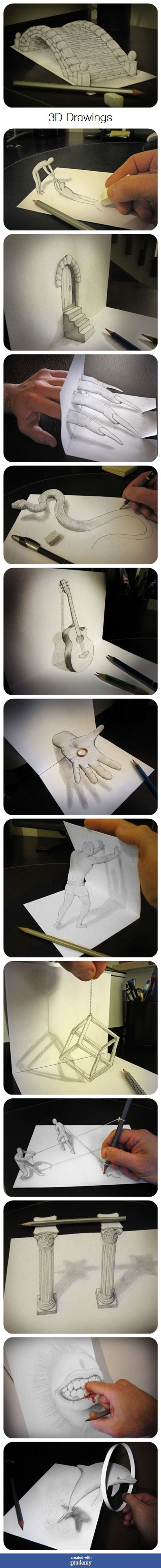 3D Drawings via pindemy.com
