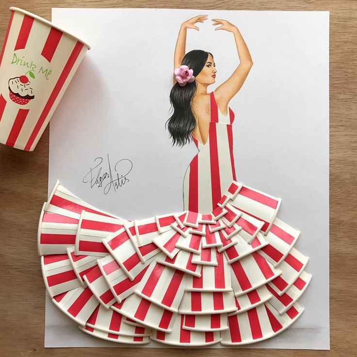 Dress made out of plastic cups by Edgar Artis