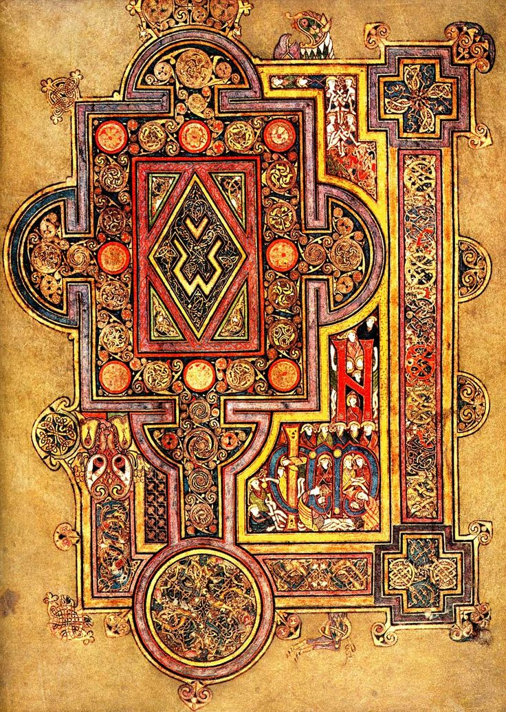 Book of Kells - if you look closer at this you can see which of the Tain Silver products have been inspired by this design