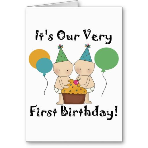 19 Best Birthday Card For Twins Images On Pinterest