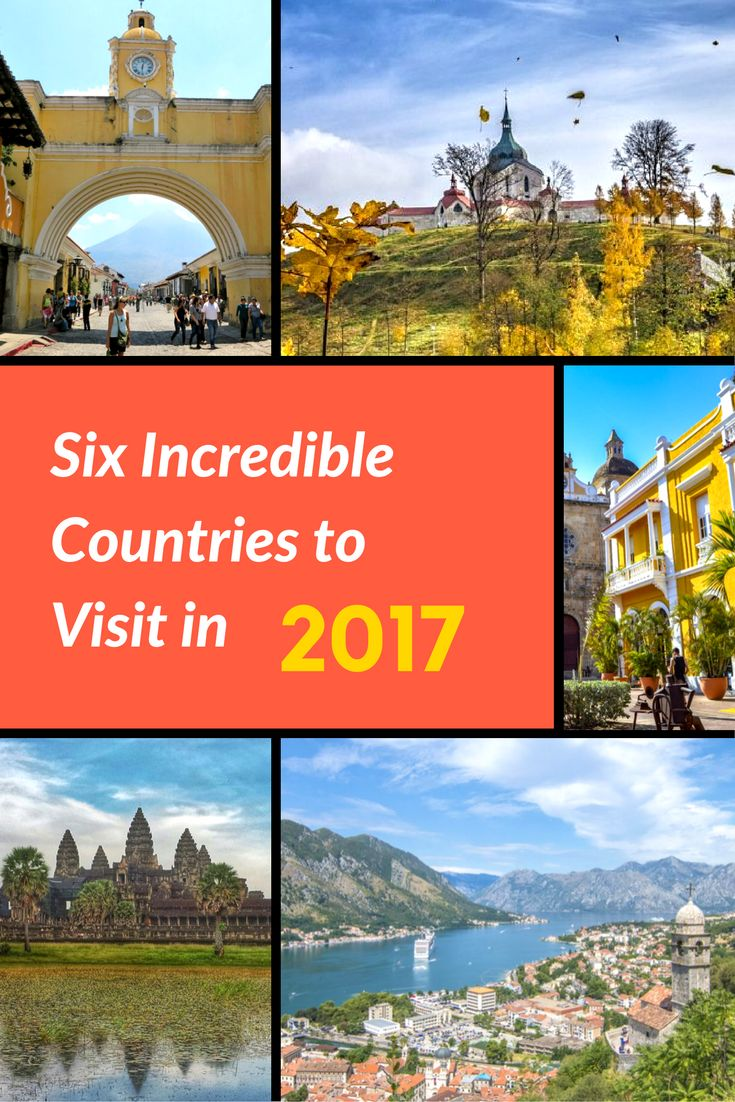 Are you planning to travel in 2017 but haven't yet decided where to go? Let us help! Here are six incredible countries you should plan to visit in 2017!