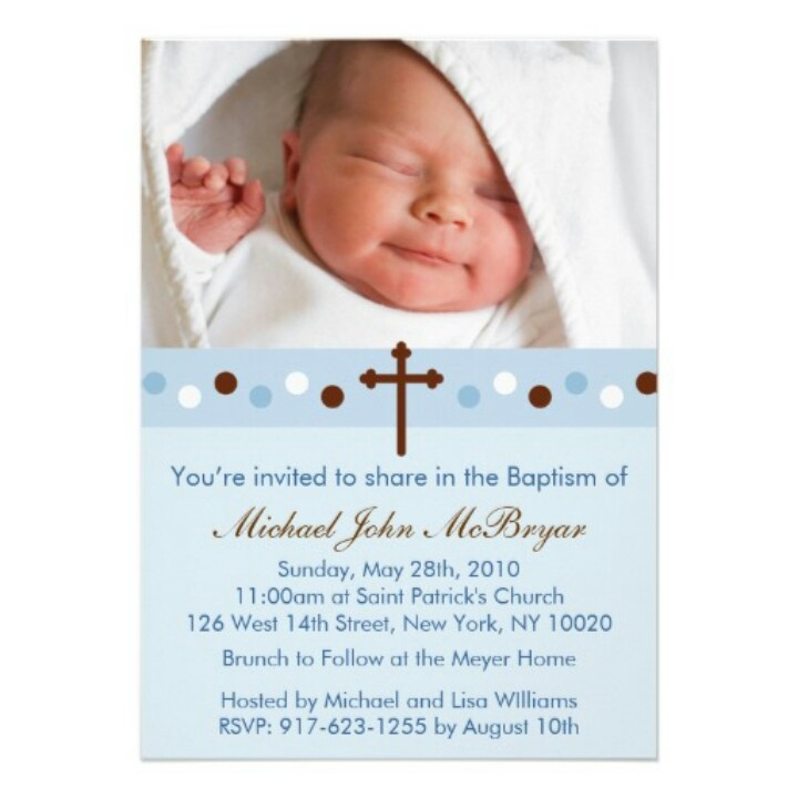 9 best Baptism invitations images on Pinterest | Baptism ideas ...