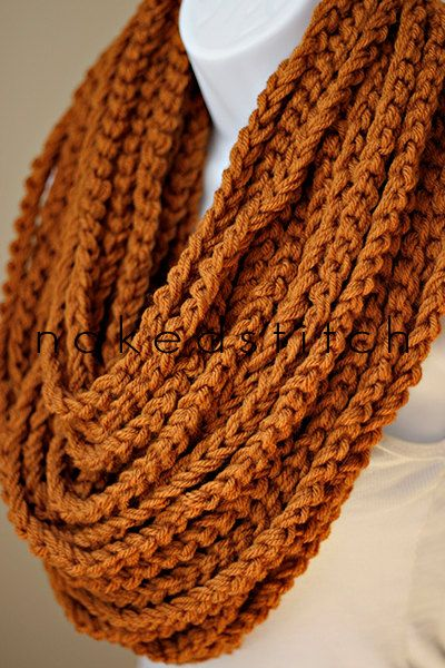 Bulky Chain Scarf   Crochet Scarf  XL by nakedstitch on Etsy
