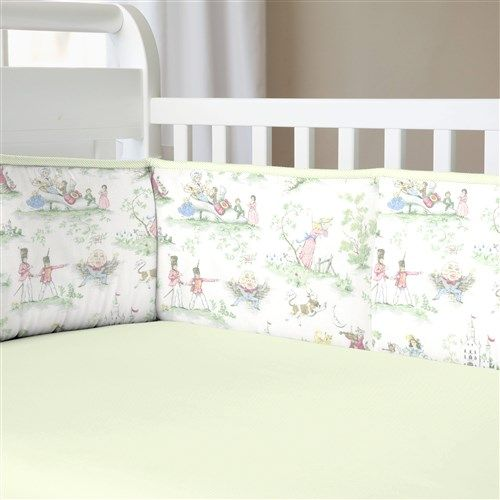 Sage Toile Traditional Nursery Rhyme Collection by Carousel Designs.