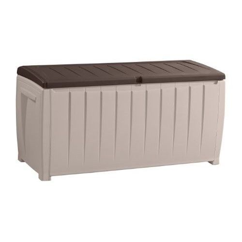 Plastic Garden Storage Box Large Outdoor Storage For Cushions Or Tools Fade-Free #PlasticGardenStorageBox