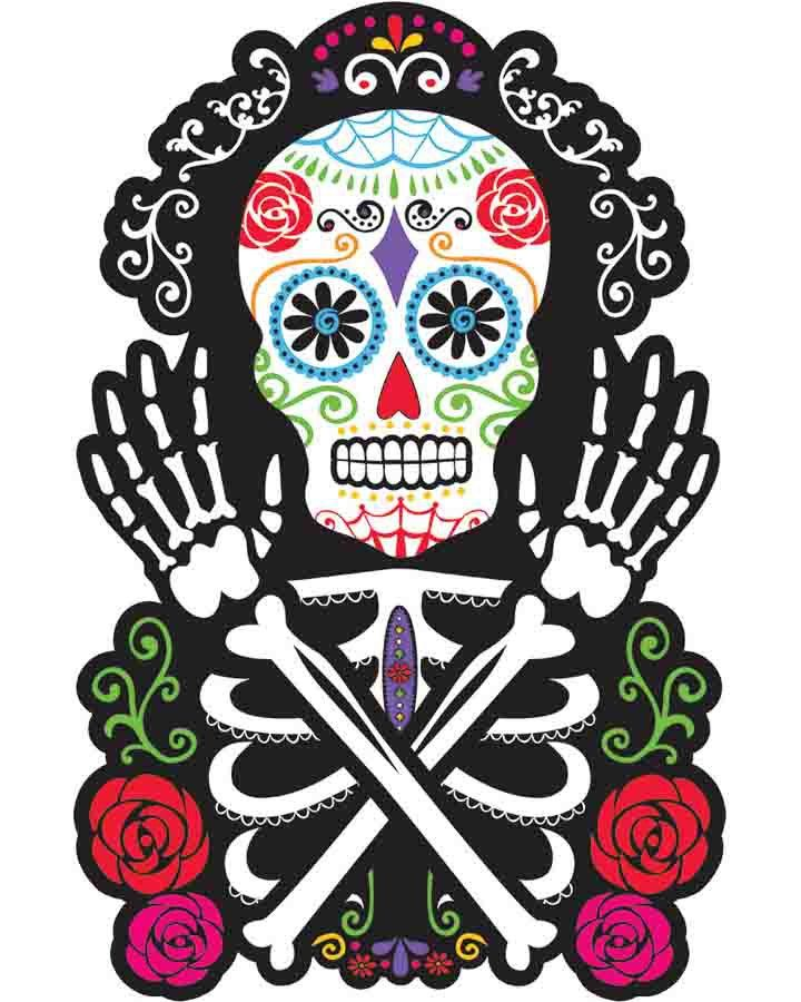 Day of the Dead Skeleton Cutout, party decoration