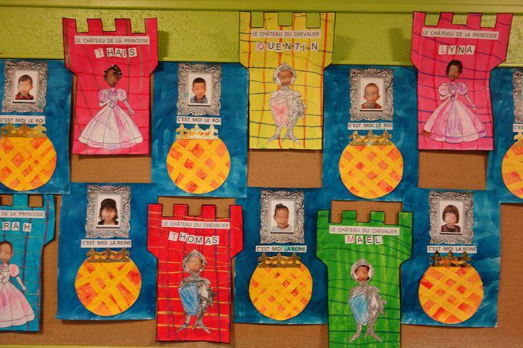 travaux autour du thème rois reines galettes princesses et chevaliers Petite Section EM Pfoeller C Fristot