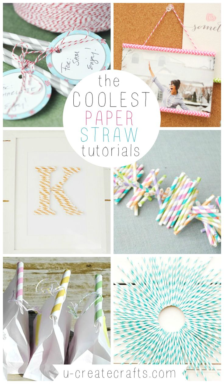 The Coolest Paper Straw Tutorials! Fun crafts and DIY straw ideas.