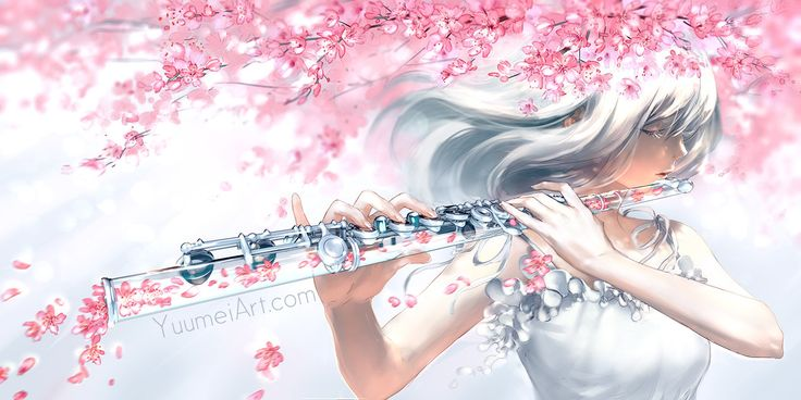 ONLINE SHOP YUUMEIART.COMFACEBOOKTUMBLRTWITTERPIXIVYOUTUBEINSTAGRAMARTSTATION Petals fall With every motion Taking all Of my emotion Carried away By the breeze Maybe someday I'll be at ease -...