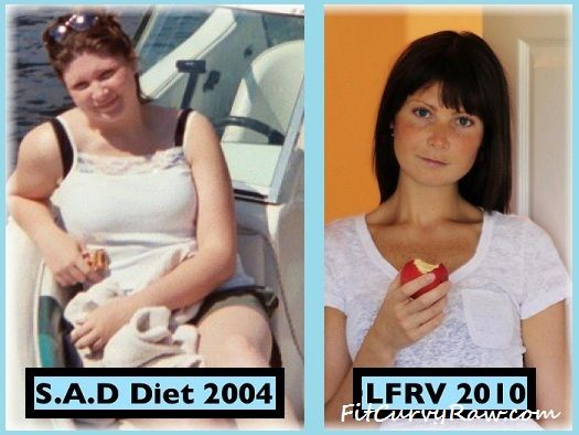 Megan Before and After Raw Food