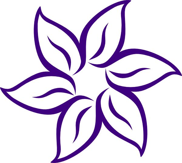 cartoon flowers clip art purple flower outline clip art vector clip art online