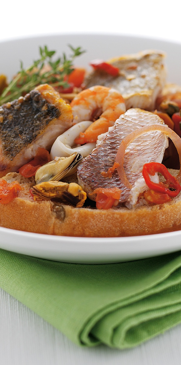 Cacciucco – An Italian style fish stew which is incredibly tasty. A must try!..find the best designer swimsuits out there SouthBeachSwimsuits.com