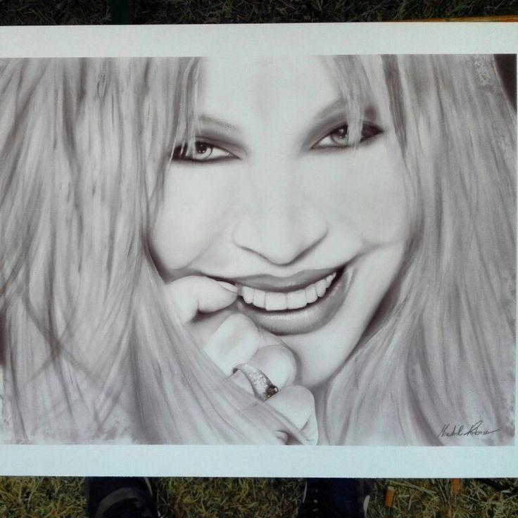 Portrait 70x50 cm IVANA SPAGNA
