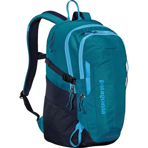 Patagonia Refugio Pack 28L Laptop Backpack (135 NZD) ❤ liked on Polyvore featuring bags, backpacks, green, laptop backpacks, shoulder strap backpack, strap backpack, patagonia daypack, laptop bag and tablet backpack