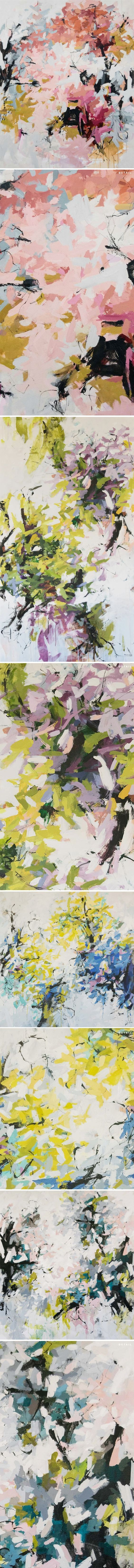large-scale floral abstracts carlos ramirez: