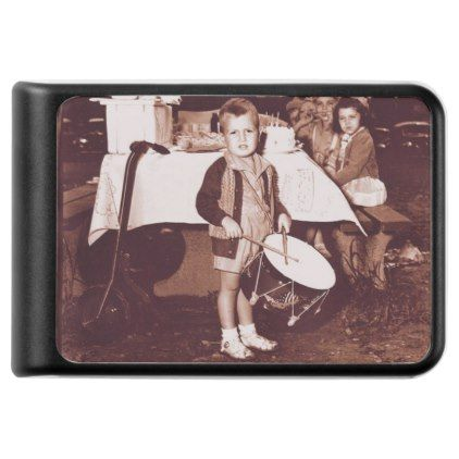 Vintage Photograph Drummer Boy c 1930s Power Bank - party gifts gift ideas diy customize
