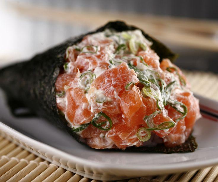 Temaki de Salmão - Ichiban Temaki Sushi Delivery Diadema