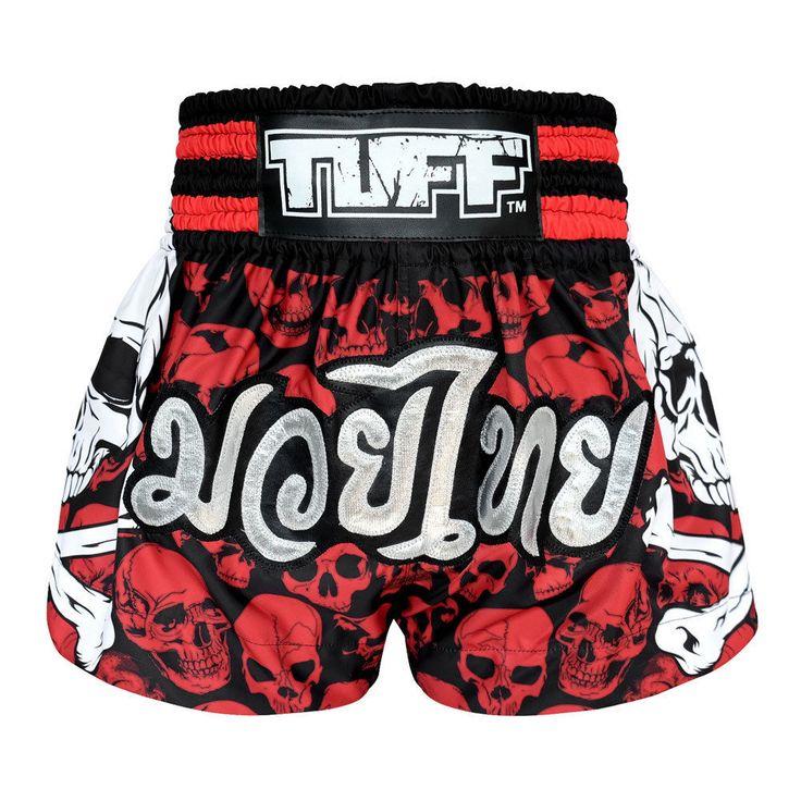 RD SKULL Vintage Boxing Shorts Kids MMA Grappling Shorts Clothing Gym Muay Thai  #TuffSport