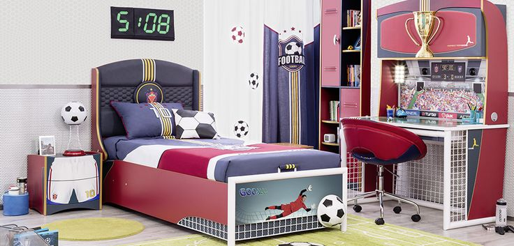 #football #futbol #futbolcu #dekorasyon #decoration #cocukodasi #oda #room #conceptroom #şampiyon