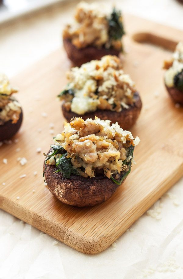 Sausage and Gorgonzola Stuffed Mushrooms
