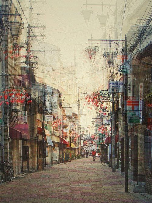 "Multiple exposure photograph by Stephanie Jung : ""Stephanie Jung is a German photographer with a very individual perspective on urban landscapes. Her multiple exposure series from Japan is particularly impressive, featuring her unique view on areas such as Tokyo, Osaka, Shibuya and Nara."""