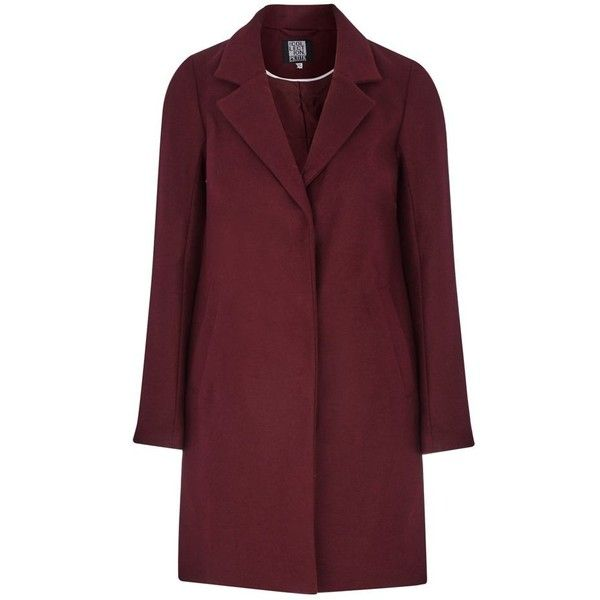 The Collection Petite Plum smart petite city coat ($115) ❤ liked on Polyvore featuring outerwear, coats, petite coats, plum coat, red coat and single-breasted trench coats
