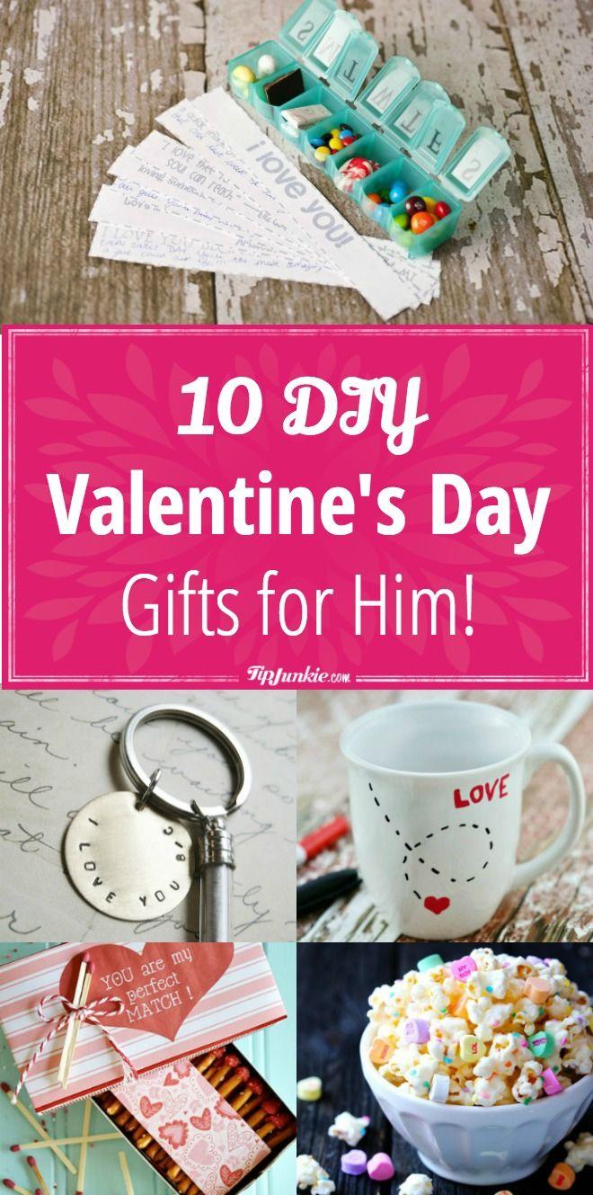 10 DIY Valentine's Day Gifts for Him || #giftsforhim #valentinesday #valentine...