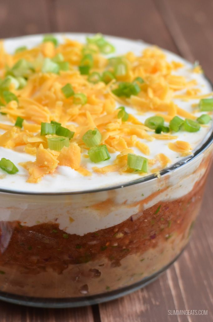 Layered mexican dip recipe slimming eats mexican dips and dips Slimming eats