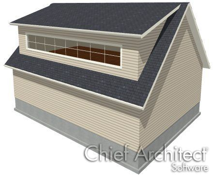 Drawing A Shed Dormer Manually Chief Architect Knowledge