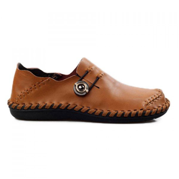Trendy Stitching and Solid Color Design Loafers For Men on dresslily.com