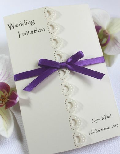 Beautiful Elegant Personalised Handmade Wedding Invitations | eBay