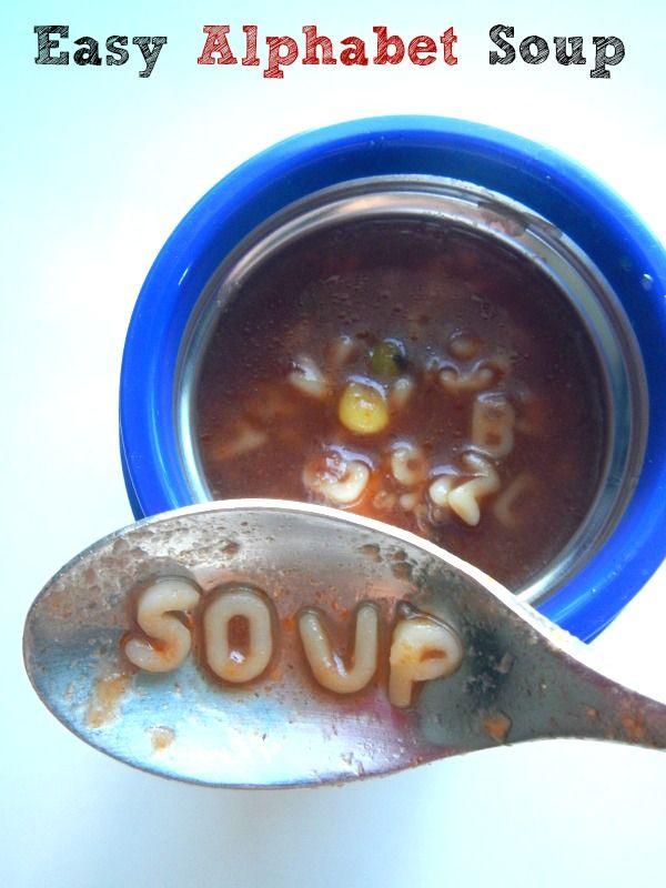 Easy Alphabet Soup Recipe (Nutritious School Lunch Idea ...