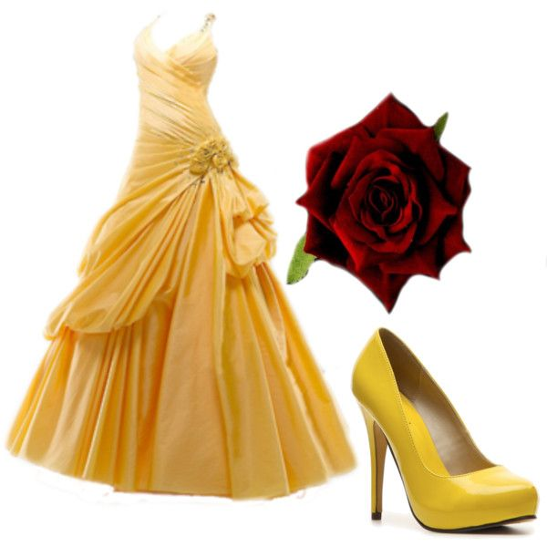 Disney Princess Prom-Belle: Created by Frenzy McGee  http://dressed-up-to-undress-.tumblr.com/
